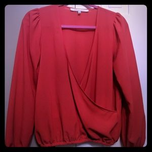 Cross front boutique blouse
